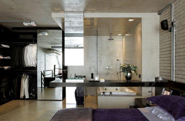 Уютный лофт в индустриальном стиле