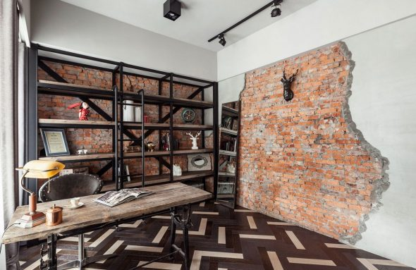 Декор стен в интерьере лофт