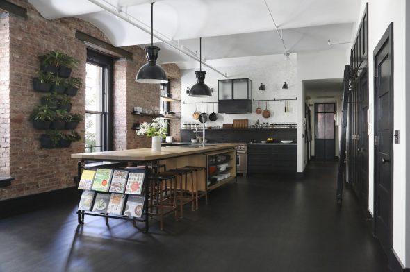 Кухонный гарнитур в стиле индустриальный лофт