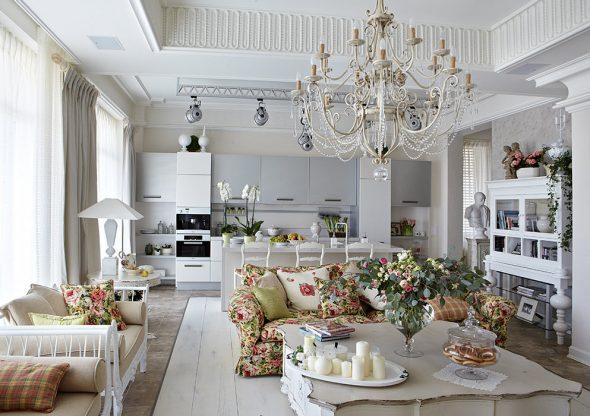Квартира в классическом винтажном стиле