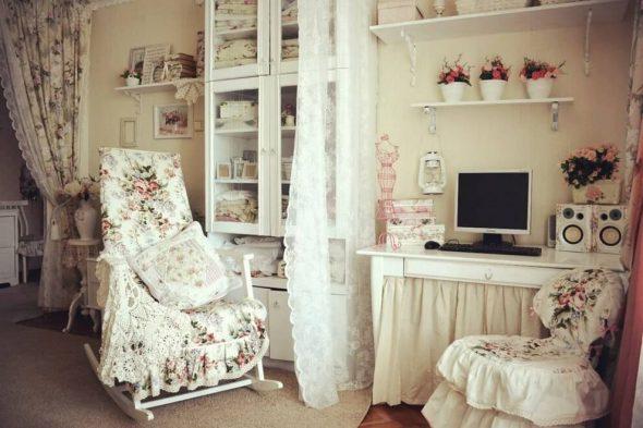 Комната в винтажном стиле