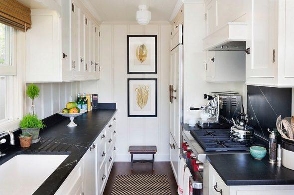 Параллельная планировка кухни