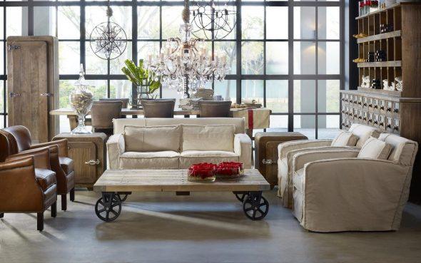 Мебель в стиле винтаж в интерьере гостиной