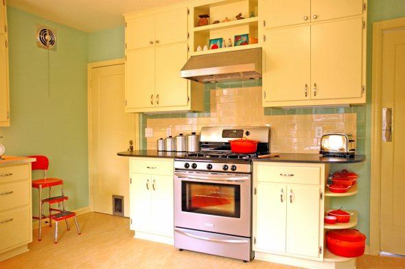 Кухня в интерьере 50-х