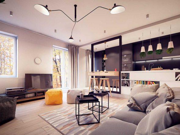 Интерьер квартиры в стиле современных 60-х