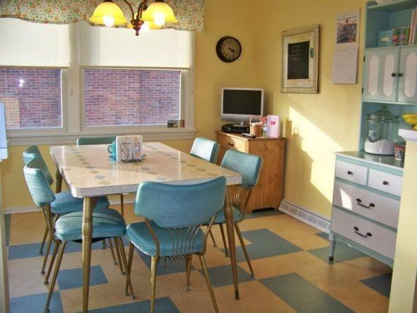 Интерьер кухни 60-х