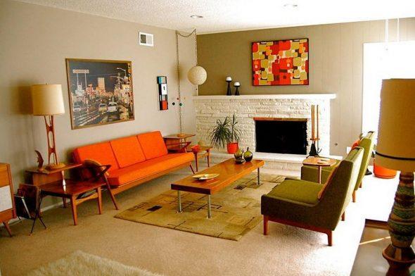 Комната в стиле 70-х