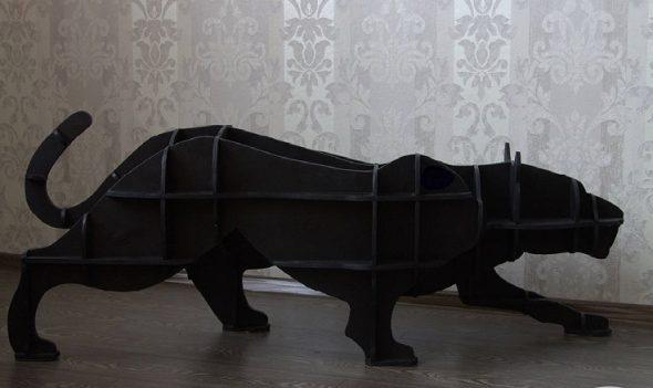 Полки-животные из фанеры