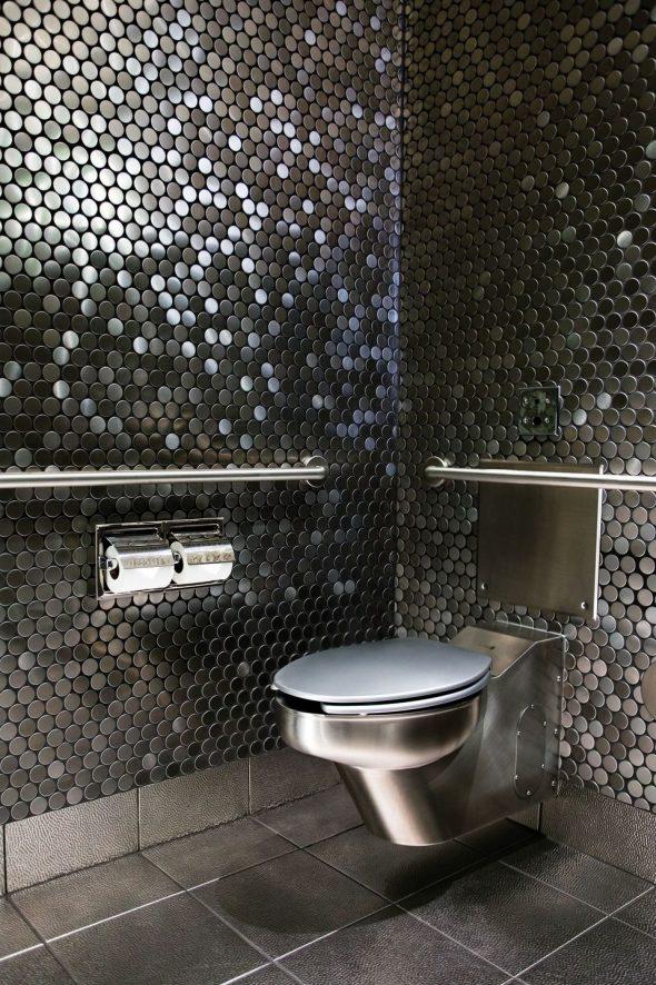 Мозаика из металла в интерьере