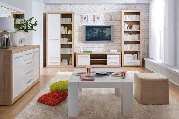 Мебель из светлого дерева в скандинавском стиле