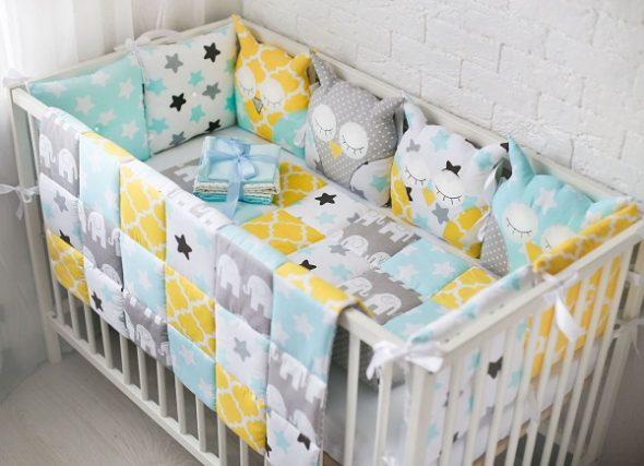 Кровать для малыша с бортиками