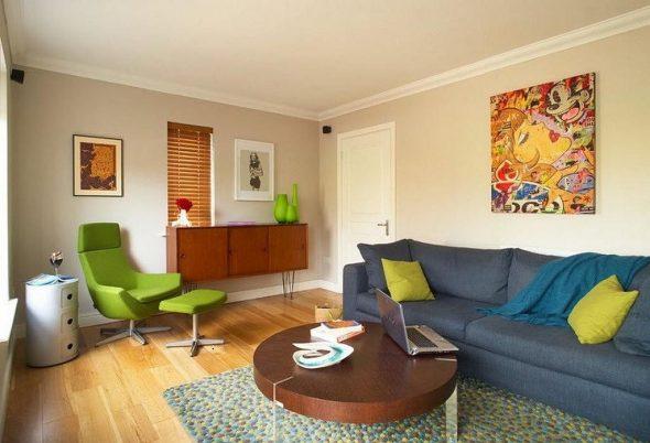 Комната в стиле ретро 60-х