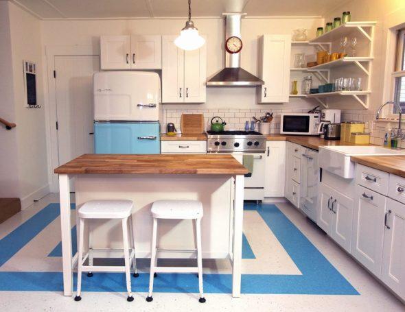 Ретростиль в интерьере кухни