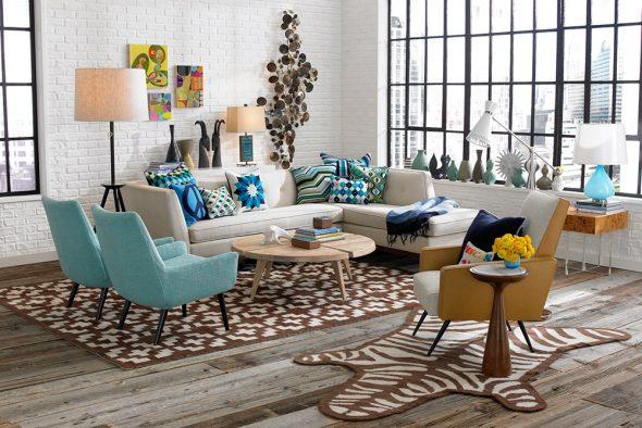 Мебель в стиле ретро в современном интерьере
