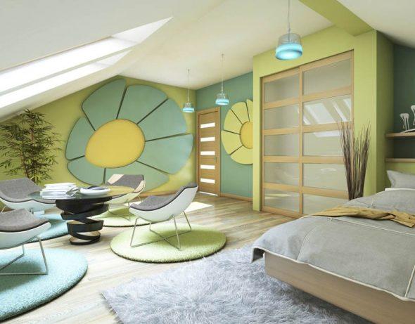 Комната в стиле 70-х годов