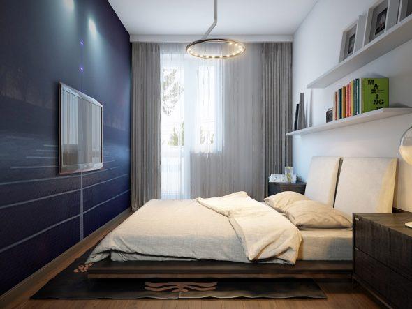 идеи для спальни 8 кв м