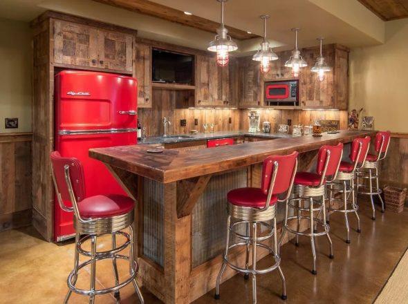 Кухня в современной квартире-студии