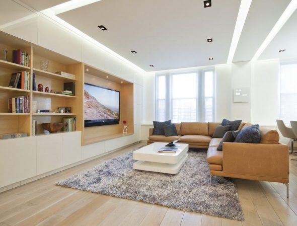 Потолок из гипсокартона в интерьере