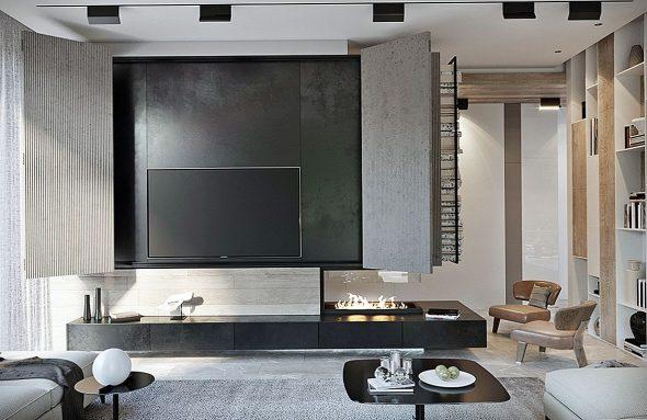 Телевизор за дверками
