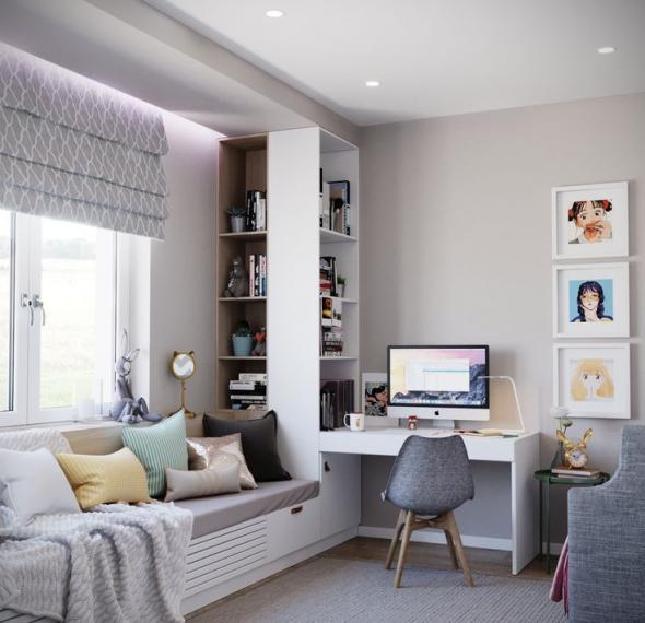 Зона для отдыха в домашнем кабинете