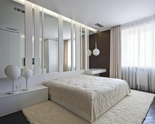 Подвесные светильники в спальне