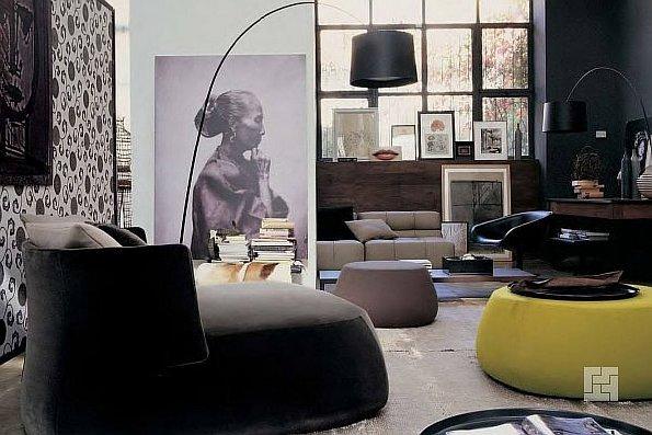 Дизайн-проект комнаты в тёмных тонах