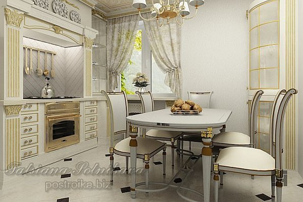 Классическая кухня светлого цвета