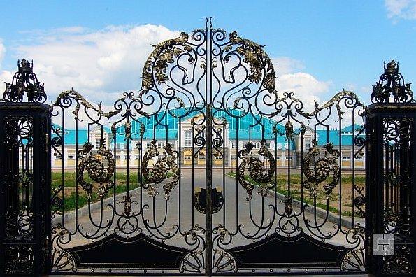 Кованые ворота - хороши на фото!