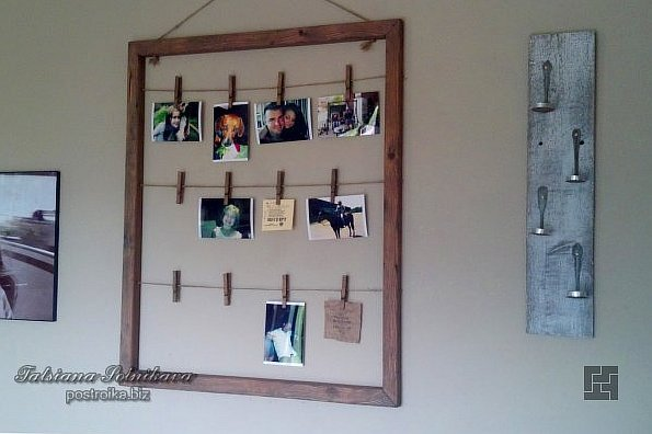 Идея оформления рамки с фотографиями