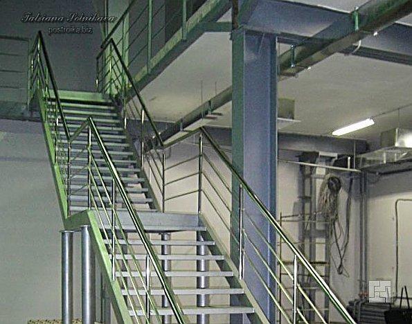 Металлические лестницы для подъема на второй этаж производственных помещений: рабочие лошадки с железным характером