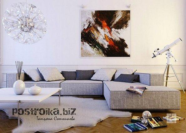 Гармония в душе через декор стен в гостиной
