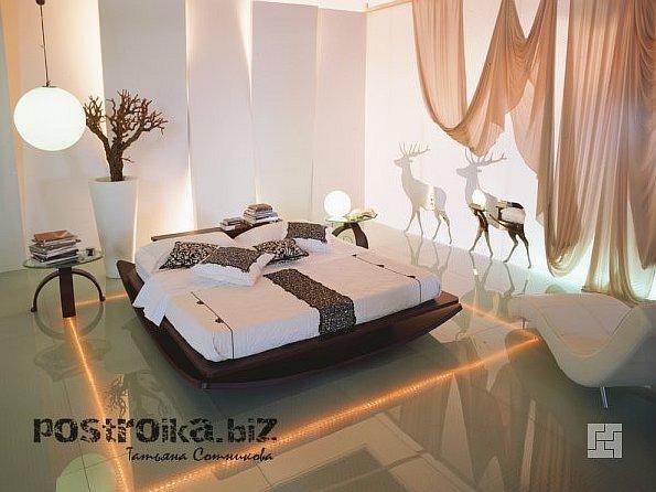 Загадочные интерьеры спален в стиле модерн
