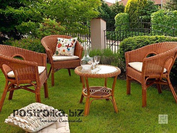 Деревянный садовый гарнитур