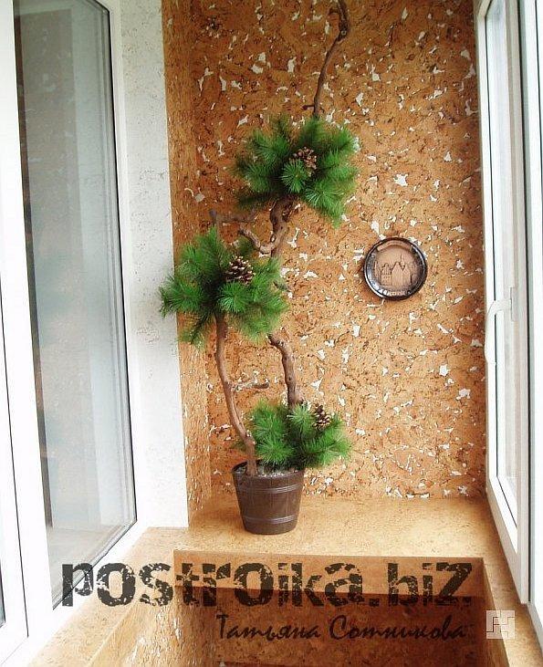 Как оформить стены на балконе
