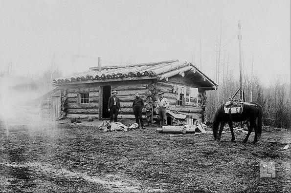 Дом американских переселенцев, конец XIX века