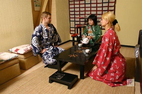 Чайная церемония - важный элемент японской бани