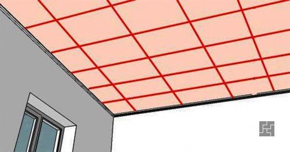 Разметка потолка под каркас для подвесного потолка