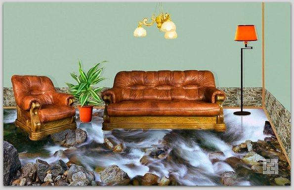 Наливные полы с эффектом 3D