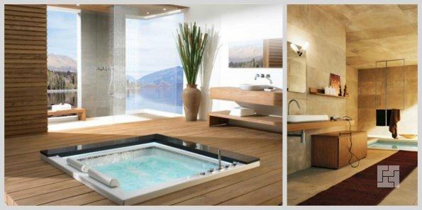 современный дизайн: ванная в полу