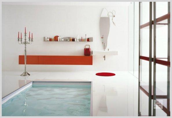 дизайн ванной - ванная в полу