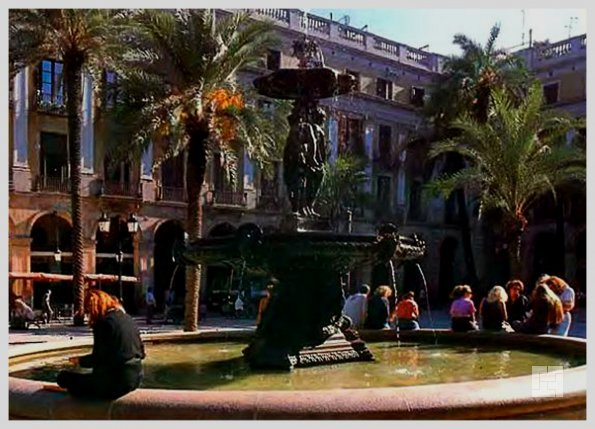 Фонтан на площади Каталонии, арх. Антонио Гауди