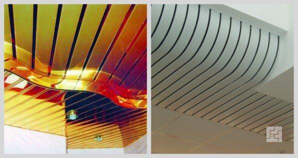 оригинальный дизайн реечного потолка