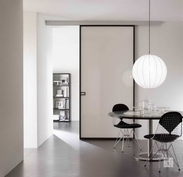 двери-купе в интерьере комнаты