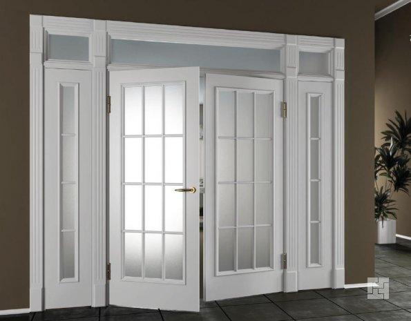 """классические """"распашные"""" двери"""