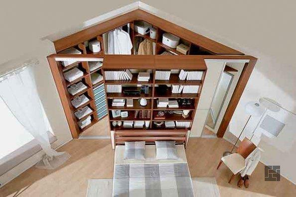 не изолированная гардеробная комната