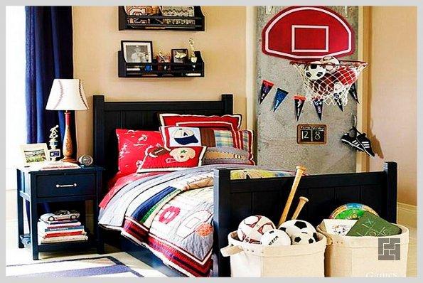 Детская комната в скандинавском стиле: яркие детали на пастельном фоне