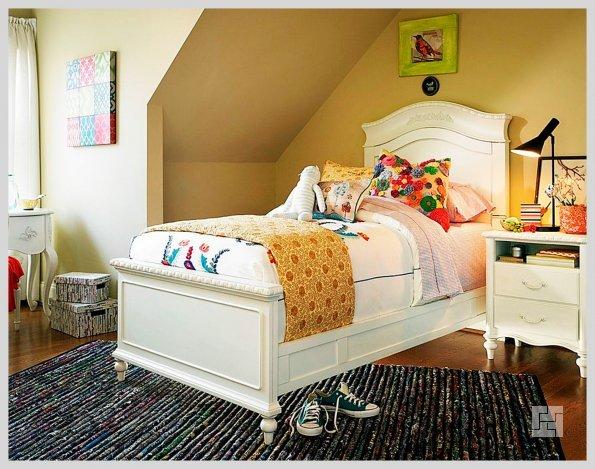 Оформление спальной зоны в детской комнате в скандинавском стиле