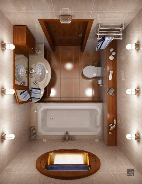 очень маленькая ванная