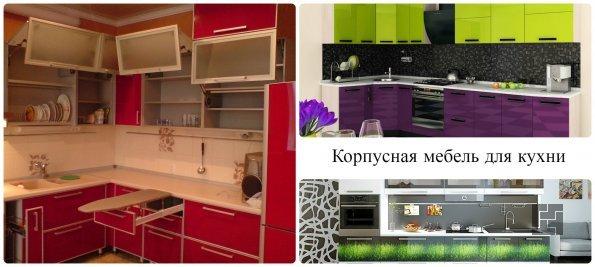 Корпусная мебель в кухонном интерьере