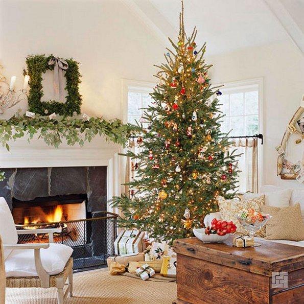 Украшение дома к Новому 2015 году